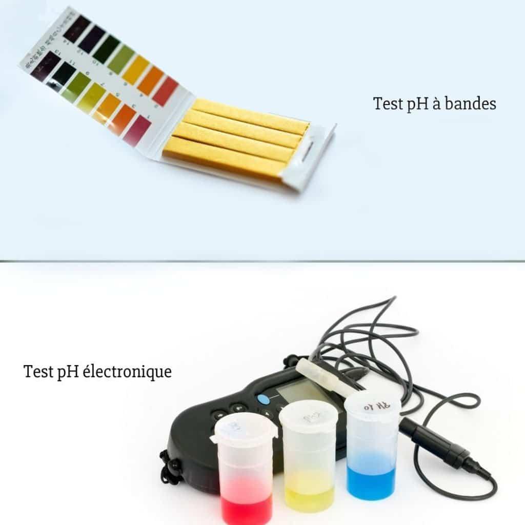 Différents testeurs pour pH